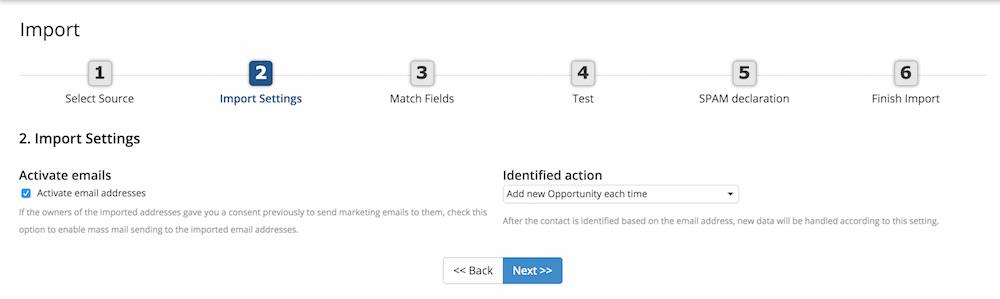 Email aktiválás